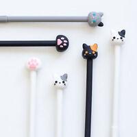6Pcs Cute Cartoon Cat's paw Gel Pens Office School Student Supply Stationery NEW