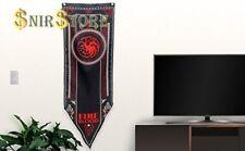 Game Of Thrones House Targaryen Tournament Banner Fabric Poster Wall Design Art