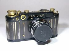 Art Camera.FED-2 #25 Anniversary 50 years Soviet Power with lens Industar-61 L/D