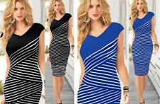 Unbranded Stripes Dresses for Women with Slimming