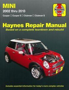 Haynes Handbuch: Mini 2002-2013 Reparaturanleitung/Reparatur-Buch/Wartung/Cooper