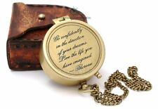 Engraved Brass Vintage Nautical Compass Directional Magnetic Christmas Day Gift