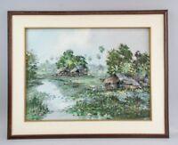NIKIT (NK) KAMPAN Thai ORIGINAL Oil On Canvas Landscape Signed & FRAMED