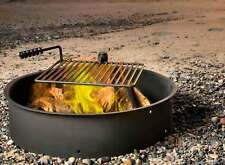 """24"""" 32"""" 36"""" Steel Fire Ring w/ Cooking Grate Campfire Pit Camping Park Grill"""