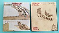 Carlo Pedretti LEONARDO ARCHITETTO - Electa 1978 In cofanetto 1a edizIone