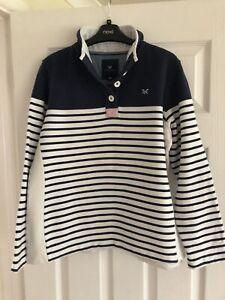 Ladies Crew Clothing Sweatshit Half Button Size 14