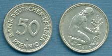 BDL 50 Pfennig 1950 G Bank deutscher Länder -original-  J. 389 -selten-   #3666