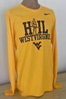Nike West Virginia Mountaineers Long Sleeve New NWOT Men's LG Hail WV