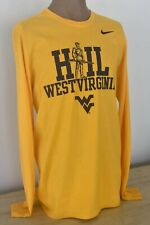 3c561925 West Virginia Mountaineers Nike Long Sleeve Tee New NWOT Men's XL Hail WV