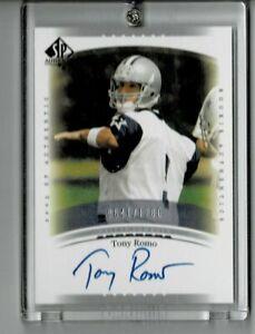 2003 Upper Deck SP Authentic Tony Romo RC Rookie AUTO Autograph /1200 (RC)