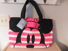 Disney ~ Mickey & Minnie Mouse Canvas Tote Bag ~ NWT