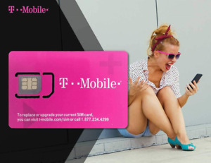 Franwell T-Mobile Prepaid USA SIM Card - Unlimited 4G Data, Calls and Texts -5