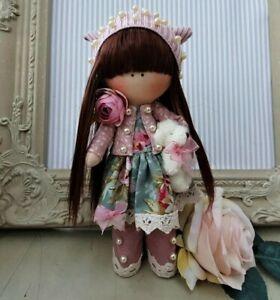 Rag doll handmade Cloth doll Tilda doll Rag Ooak doll MIRANDA 8 inch tall