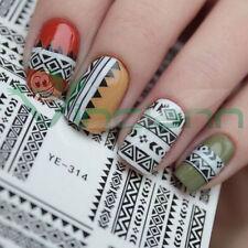 Adesivo sticker Tribale nail art decorazione unghie unghia trasferimento acqua