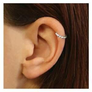 925 Sterling Silver Spike Ear Cuff