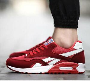 New Men's Sport shoes Breathable Casual Sneakers Running Shoes Lace Up Shoes sz