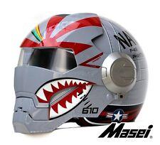 Masei 610 F4 Phantom US Air Force Military Bike Motorcycle Helmet Silver Harley