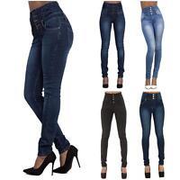 New Women High Waist Slim Skinny Jeans Stretch Pencil Ladies Denim Pants Lot