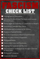Fascism Check List Warning Signs Political Poster 12x18 inch