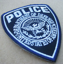 Police Department of Defense United States of America Iron On Patch Dark Blue