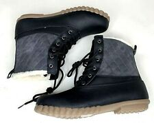 Cushion Walk Avon Womens Winter Boots Keep Cold Out Bootie Black Gray Lace Up 7
