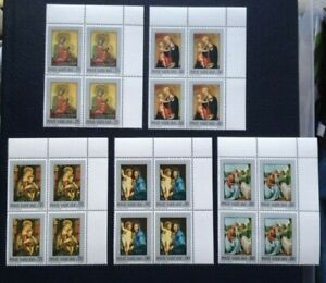 Vatican City Easter 1971 set of unhinged mint stamps in blocks of 4