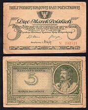 RaRe 5 marek polskich Polonia 1919 BB/VF  §