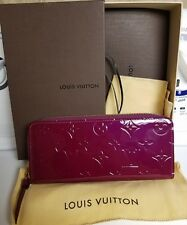 Louis Vuitton LV Clemence Wallet Vernis Fuschia Pink Patent Leather