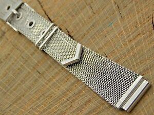 NOS Vintage Unused Forstner Mens Stainless Steel Belt Style Mesh Watch Band 16mm