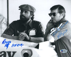 MAURICE PETTY & DALE INMAN DUAL SIGNED AUTOGRAPHED 8x10 PHOTO + HOF BECKETT BAS