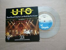 "UFO - SHOOT SHOOT - 7"" P/S - CLEAR VINYL - MICHAEL SCHENKER / PHIL MOGG"