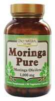 Only Natural Moringa Pure 1000 mg 90 Vegetarian Capsules Moringa Oleifera