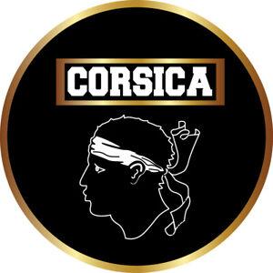 STICKERS Autocollant CORSICA, patch, écusson pare-brise voiture produit CORSE.R