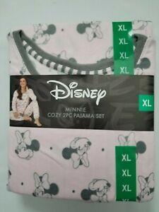 Disney Women's Soft Cozy Pajama PJ 2Pc Set Mickey Minnie Mouse Great Gift NEW