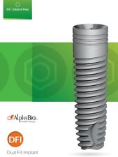 10x Alpha-Bio Dental DFI  Implants & Abutments  Dual-Fit-Implant AlphaBio Dental
