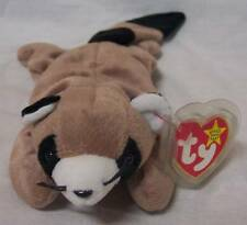 "TY Beanie Baby RINGO THE RACCOON 12"" Bean Bag STUFFED ANIMAL Toy NEW"