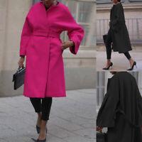 Women Long Sleeve Overcoat Trench Coat Winter Warm Formal Outwear Jacket Parka