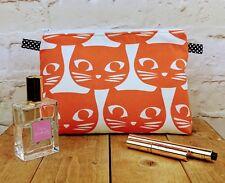 Handmade Large Orange Cat Make up Bag / Cosmetic Bag / Vanity Bag / Wash Bag.