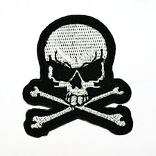 Skull Danger Poison Sign Symbol Retro Rocker Punk Emblem Clothing Iron on patch