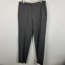Canali Flat Front Med Grey Mens Dress Pants Size 34x33