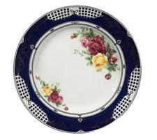 German Design Vintage Cobalt Blue/Floral  57 Pcs Dinner Set Service For 8
