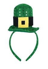 St Patricks Day Headband HAT with Sequince, belt Irish Hat Ireland X06171 UK