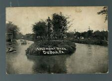 Vintage Postcard - Photo postcard of Edgemont Park in DuBois, Pa. from 1908
