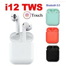 New listing i12 Tws Bluetooth AirPods Style Earbuds Smart Touch Control Headset Headphones