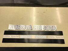 Kubota M4900 Tractor decals