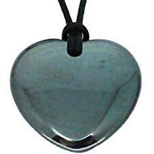 Hematite Heart Necklace Pendant Grey Aries Birthstone Healing Jewellery