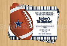 Football birthday adult greeting cards and invitations ebay 10 dallas cowboys birthday party football super bowl printed invitations any age filmwisefo Gallery