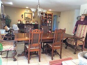 American Antique Dining Sets 1900 1950 For Sale Ebay
