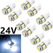 20x 24V Car LED 194 W5W T10 5 led smd 5050 T10 5SMD Wedge Light Bulb Lamp White