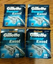 Gillette Sensor Excel Razor Blades 40 Cartridges Brand New old stock 2003